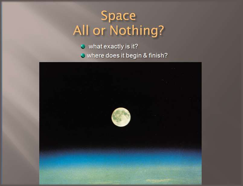 space is it all or nothing?