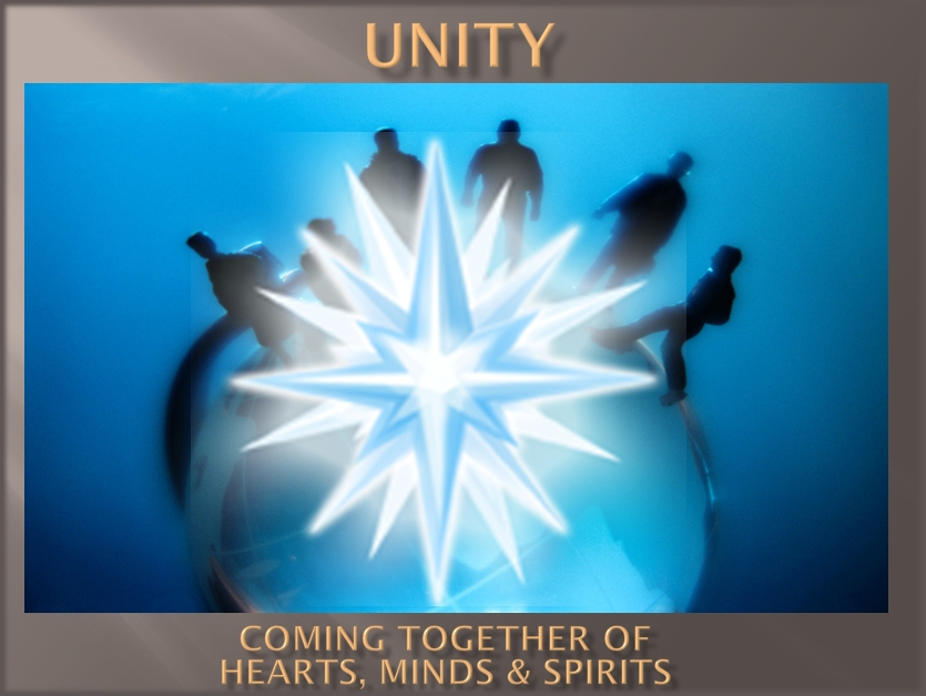 unity - the coming together of hearts, minds and spirits
